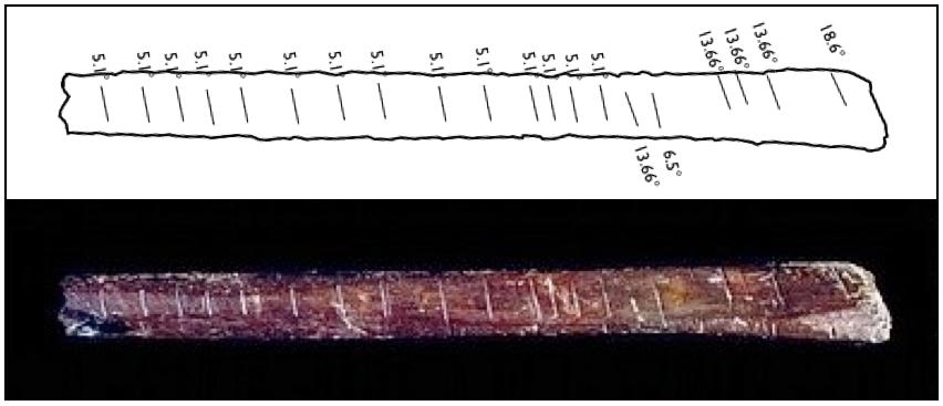 ... Bone, 35,000 BCE, A tally bone thought to be an early calendar